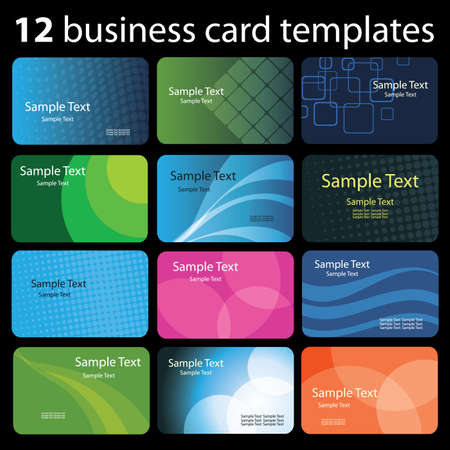 visual art: Set of colorful business cards