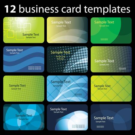 personalausweis: Set mit bunten Visitenkarten Illustration