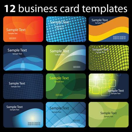 tarjeta de presentacion: Conjunto de tarjetas de visita coloridas Vectores