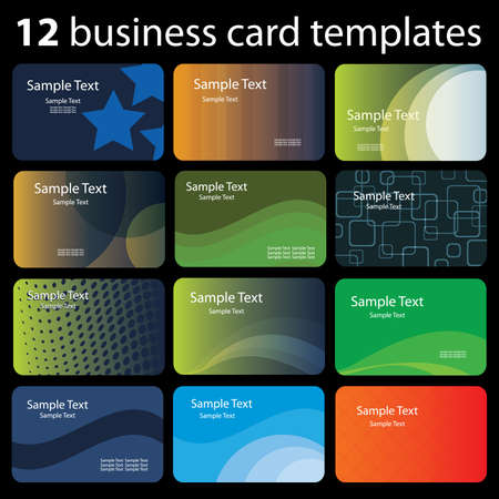 digital print: Set of colorful business cards