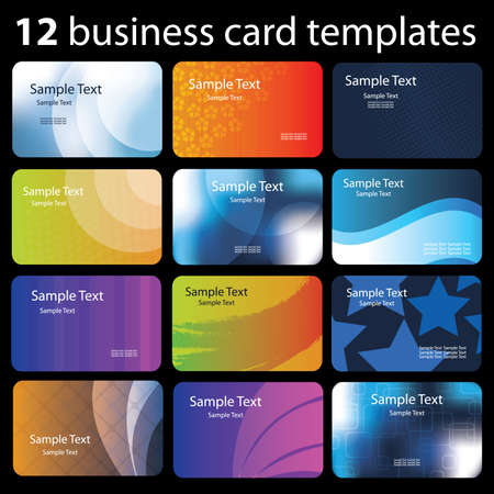 id card: Set of colorful business cards