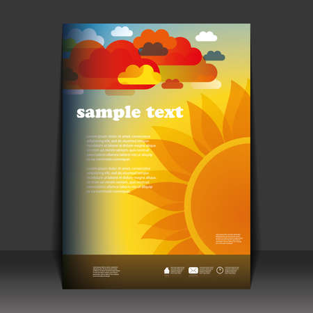 Flyer design Stock Vector - 11356965