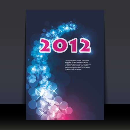 New Years Flyer or Cover Design Vector