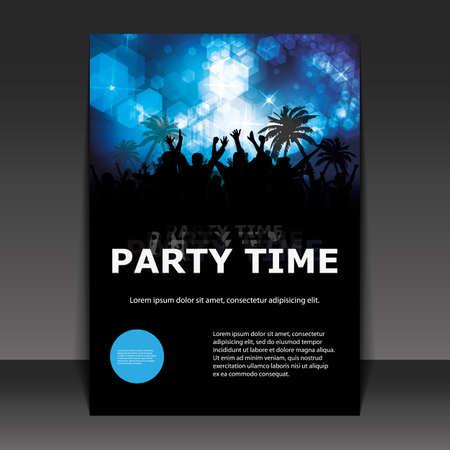 파티 타임 - 플라이어 또는 커버 디자인