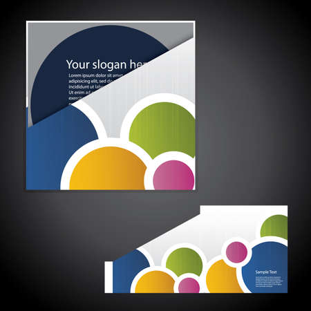 synergy: Corporate folder with die cut design Illustration