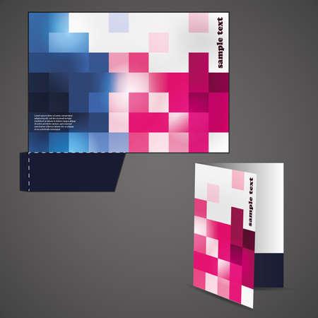 sinergia: Carpeta corporativa con un dise�o troquelado Vectores