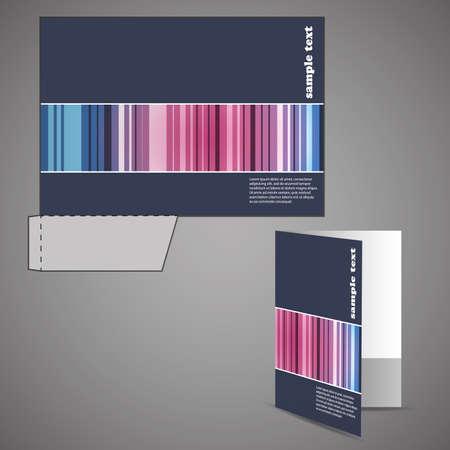 presentation folder: Corporate folder with die cut design Illustration