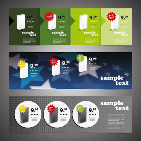 Sales Header Design Set  Vector