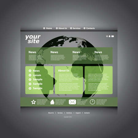 Website template Stock Vector - 11644598
