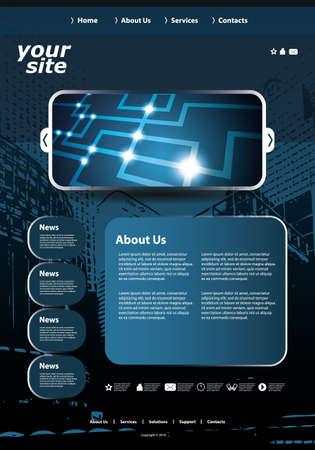 Website template Stock Vector - 11567193