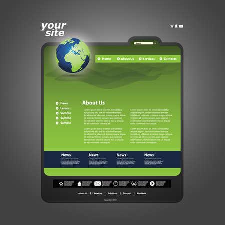Website template Stock Vector - 11478846