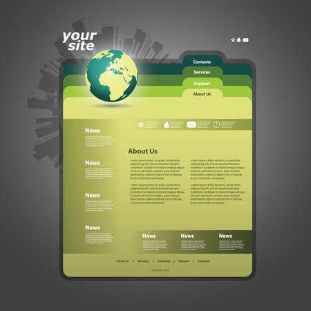 Website template Stock Vector - 11567190