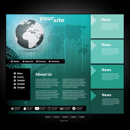 Website template Stock Vector - 11478848