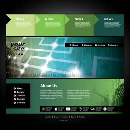 website: Website template Illustration