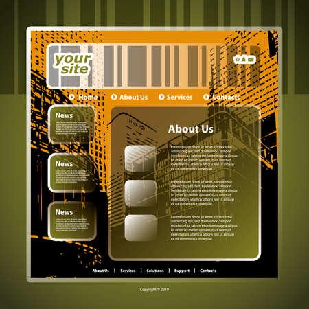 Website template Stock Vector - 11567192