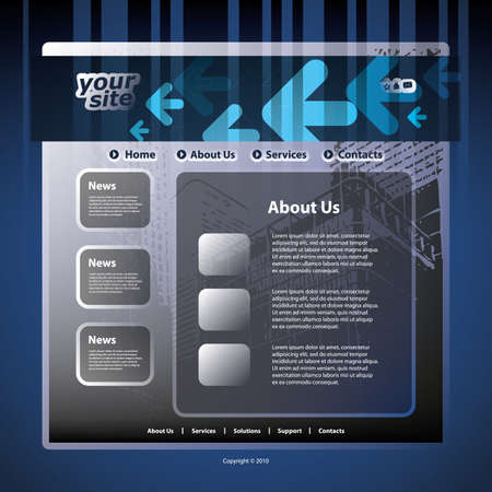 Website template Stock Vector - 11385044