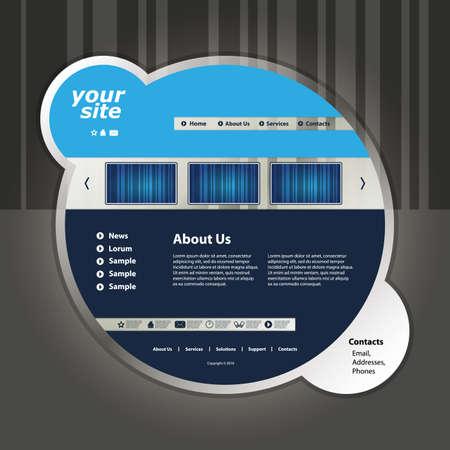 Website template Stock Vector - 11385046