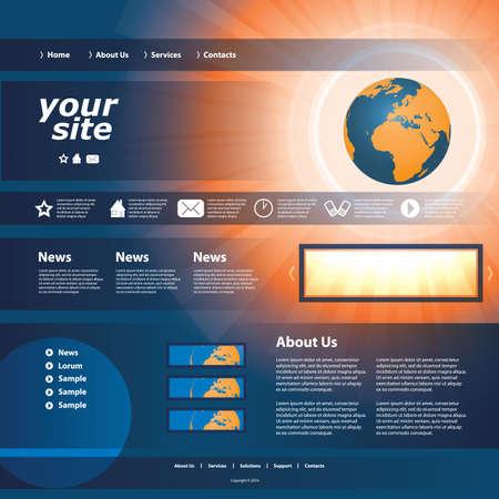 Website template Stock Vector - 11385049