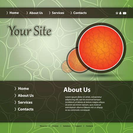 web site design template: Website Template Vector