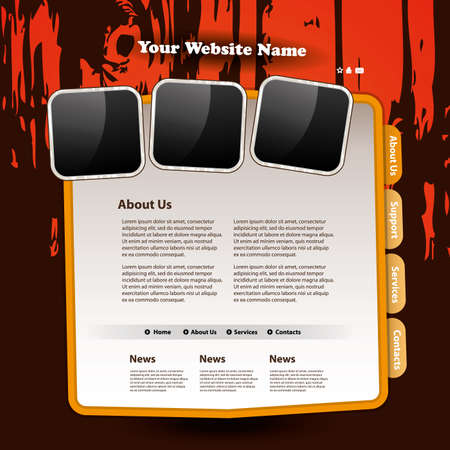 Website template Stock Vector - 11739070