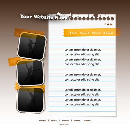 Web site design template Vector