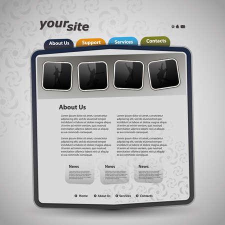 Web site design template Stock Vector - 11788803