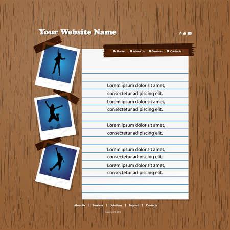 Web site design template Stock Vector - 11788804