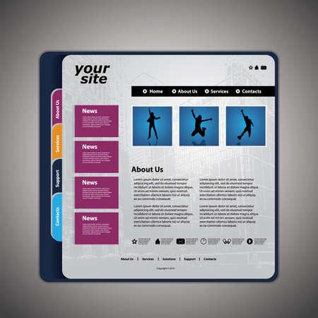 building a website: Website template vector Illustration