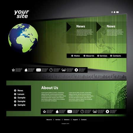 Website template Stock Vector - 11669956