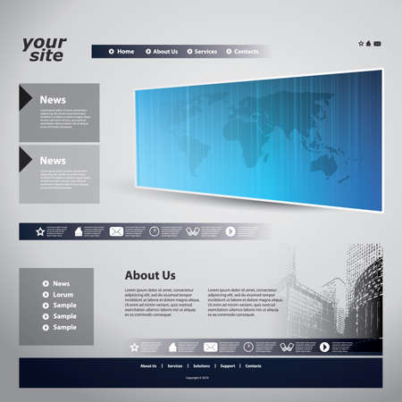 web site: Website template Illustration