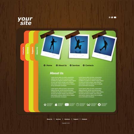 Website template Stock Vector - 11669955