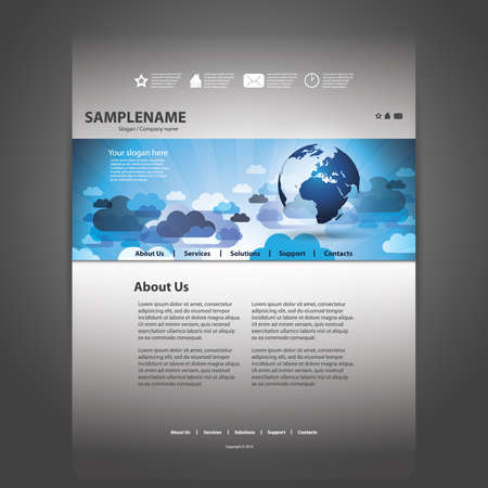 wall clouds: Website template Illustration