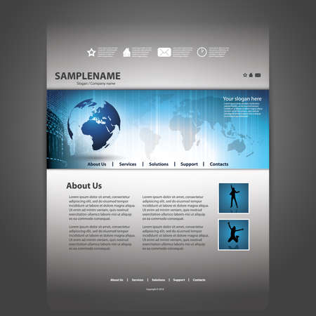 website template: Website template Illustration