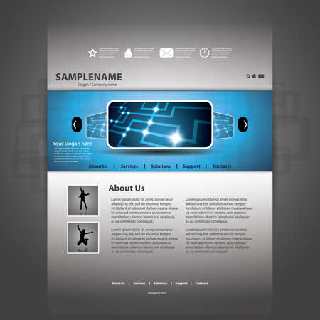 website backgrounds: Website template Illustration