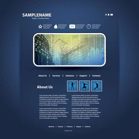 Website template Stock Vector - 11586927
