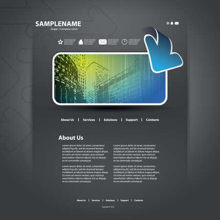 Website template Stock Vector - 11575526