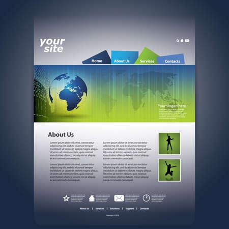 Website Template Stock Vector - 11669952