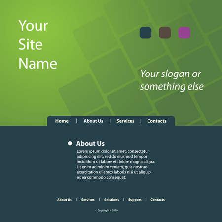 Website Template Vector Stock Vector - 11766095