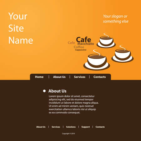 Website Template Vector Stock Vector - 11385052