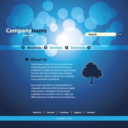 Website Template Stock Vector - 11645419