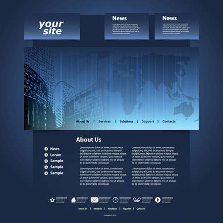Website Template Stock Vector - 11837403