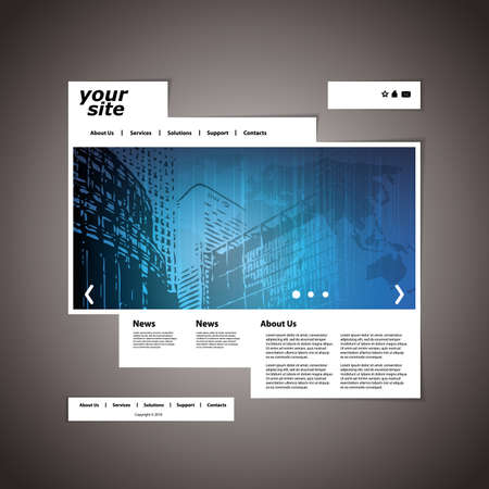 website buttons: Website template Illustration