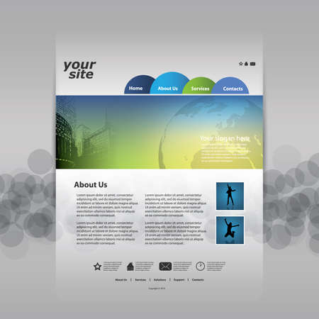 Website Template Vector