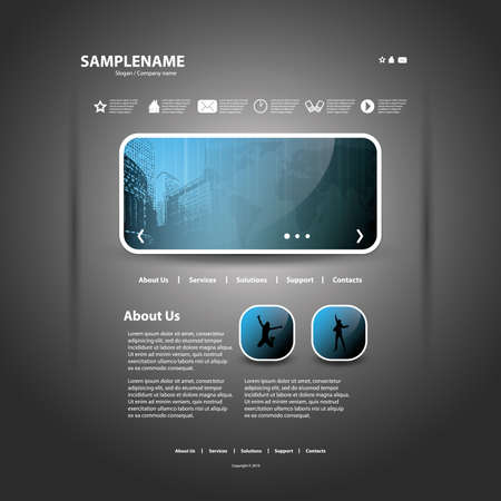web icons communication: Website template Illustration