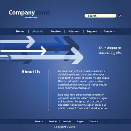 Website Template Vector Vector