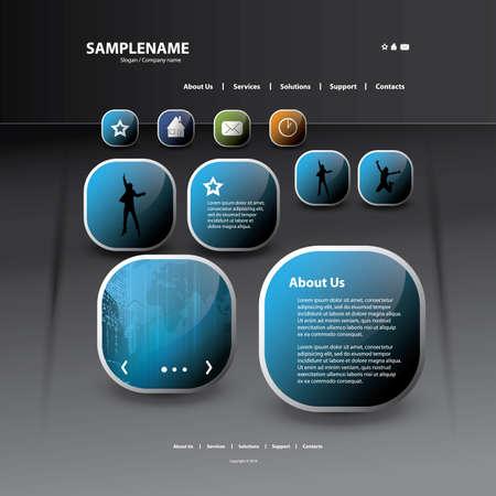 web sites: Website template Illustration
