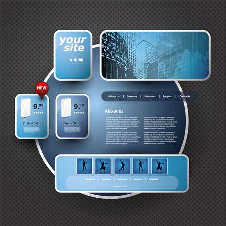 sidebar: 3D Website Template
