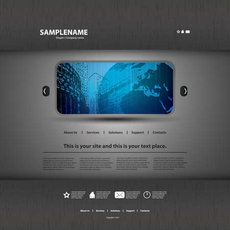 web mail: Website template Illustration