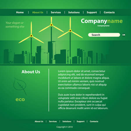website template: Website Template Vector