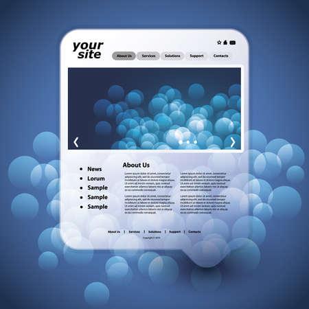 Website template Stock Vector - 11865421